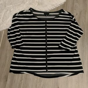 Black & White Worthington Blouse 1X